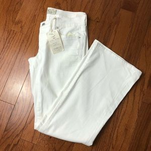 Lucky Brand White Lil Maggie Flare Jeans